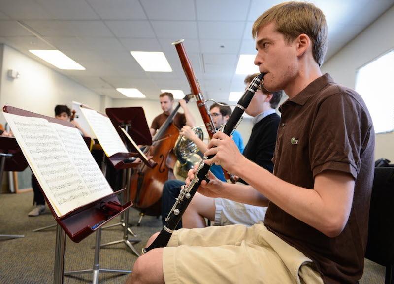 Andrew Sandwick, clarinetist  (University of Southern California / HERALD-TRIBUNE PHOTO BY RACHEL S. O'HARA)