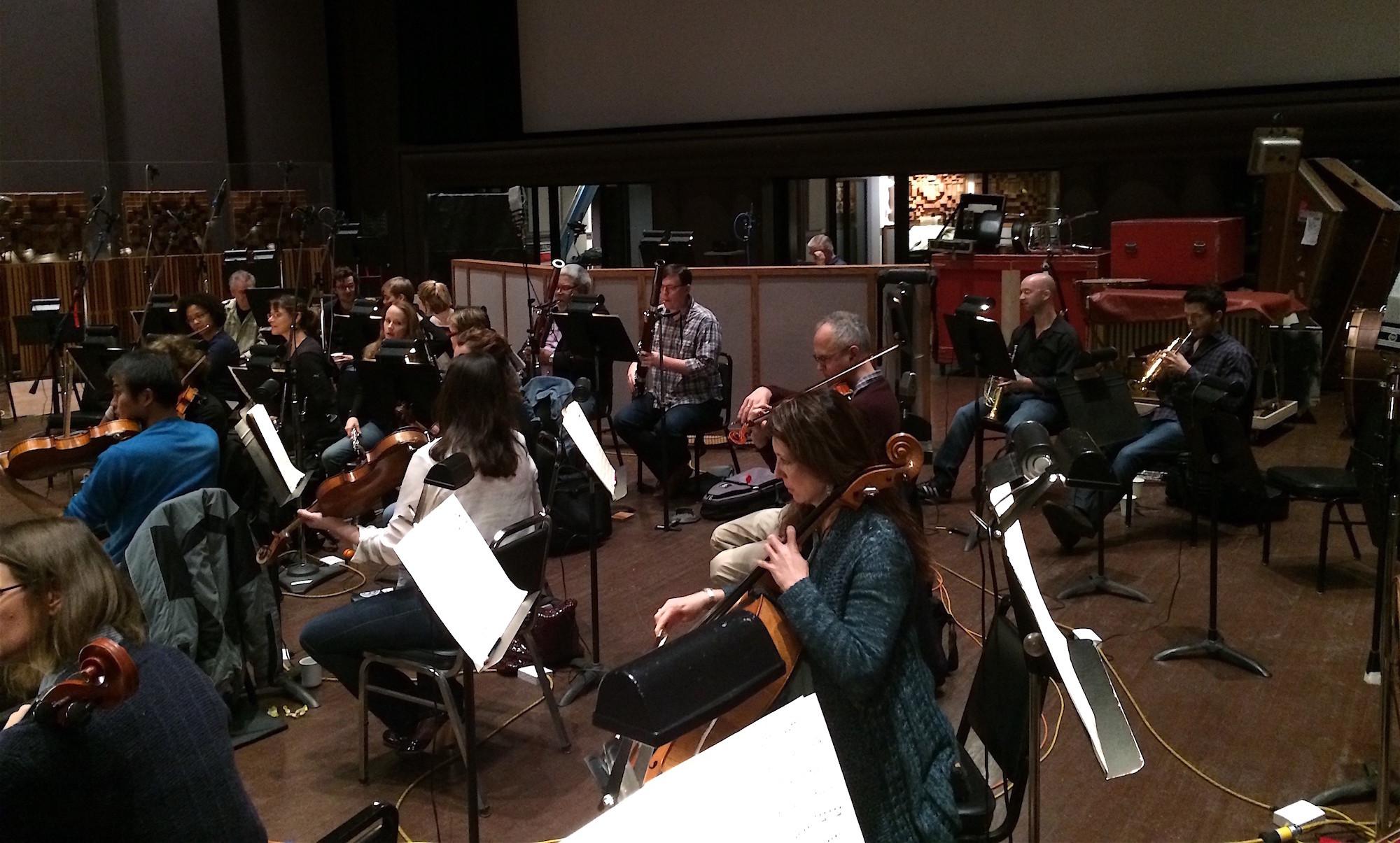 SFBO Musicians, recording session